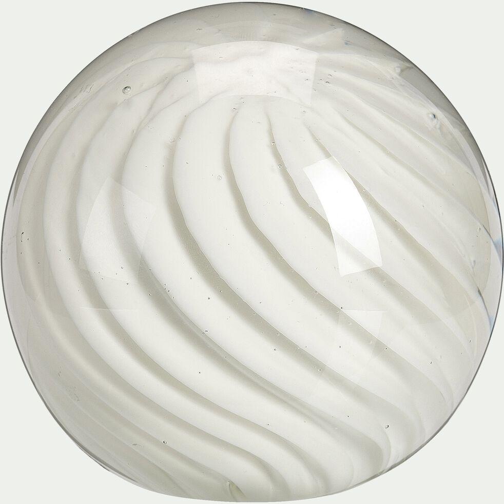 Boule déco avec inclusion - blanc D10cm-AJMER