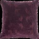 Coussin en velours imprimé prune 40x40cm-ATOSIA