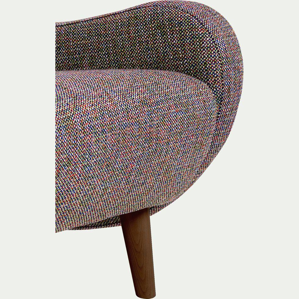 Fauteuil rétro en tissu - multicolore-BEAN