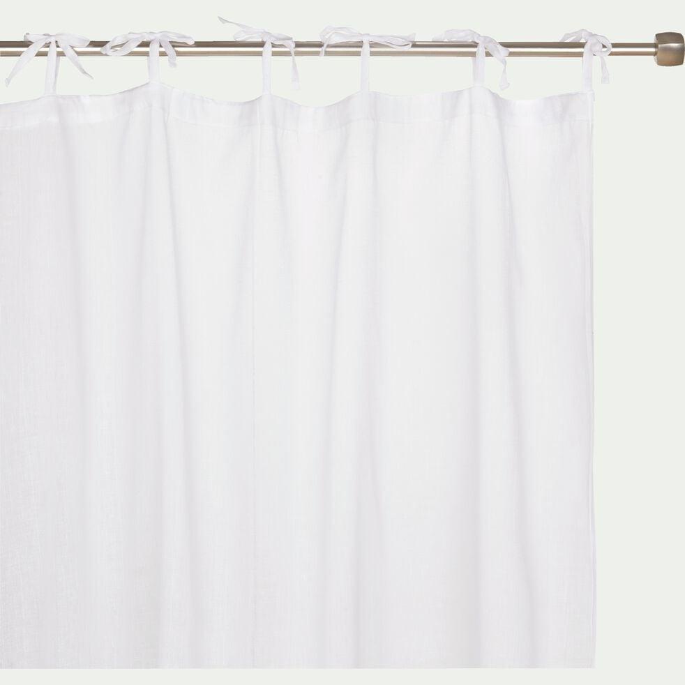 Voilage à nouettes en coton - blanc 105x250cm-Lola
