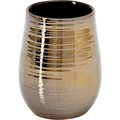 Gobelet en céramique dorée métallisée-MATHYS