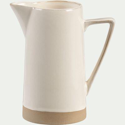 Pichet en grès - blanc - 70cl-ESQUIROU