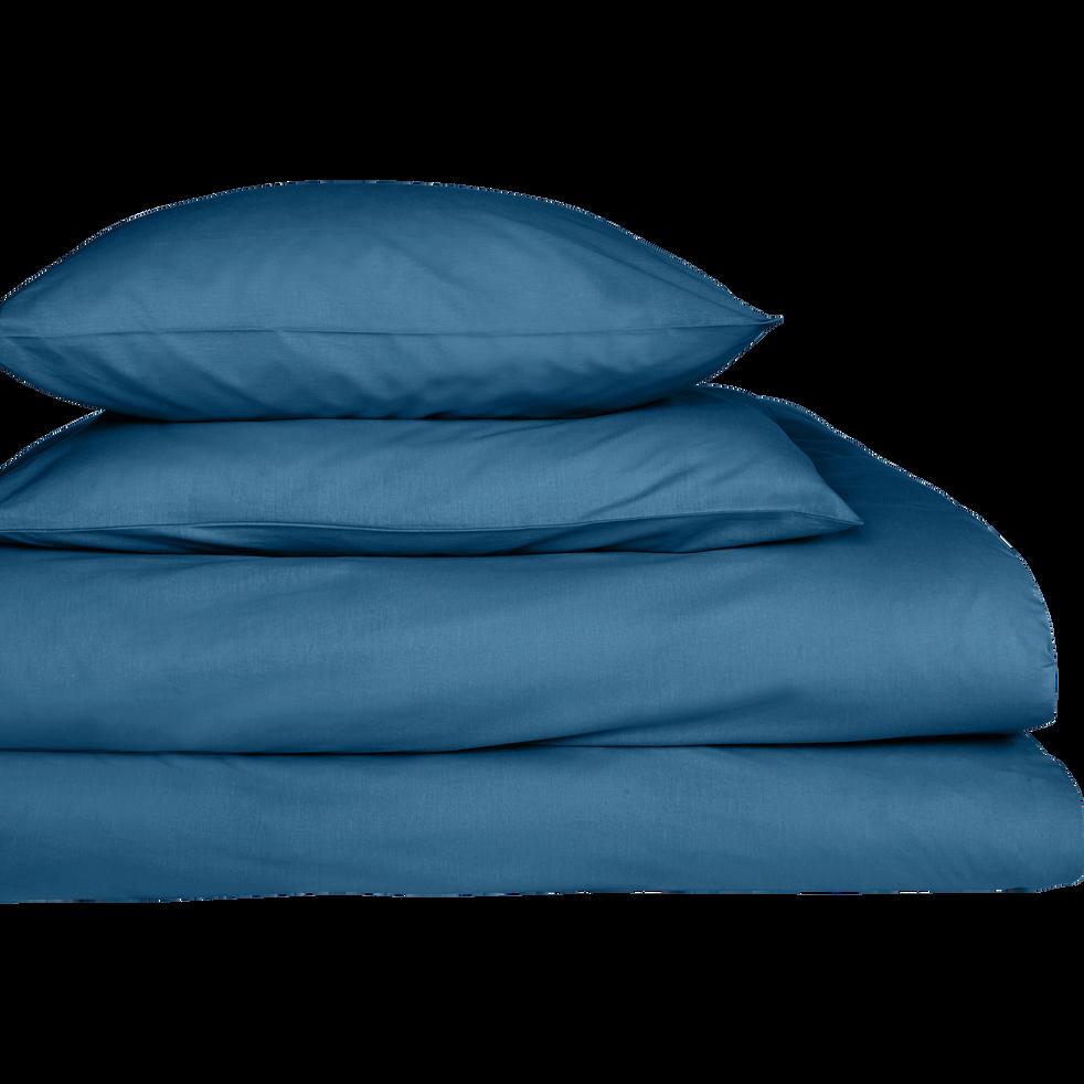 Lot de 2 taies d'oreiller en coton Bleu figuerolles 65x65cm-CALANQUES