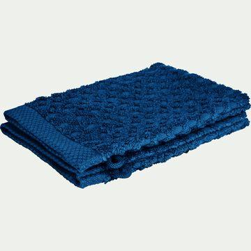 Gant de toilette bouclette en coton - bleu figuerolles-ETEL