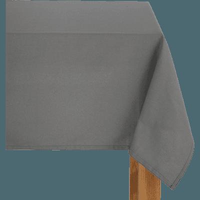 Nappe en coton gris borie 145x145cm-VENASQUE