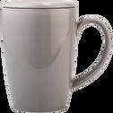 Tisanière avec couvercle en faïence gris borie 42cl-BIANCA