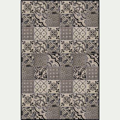 Tapis en vinyle - gris 100x150cm-SONIA