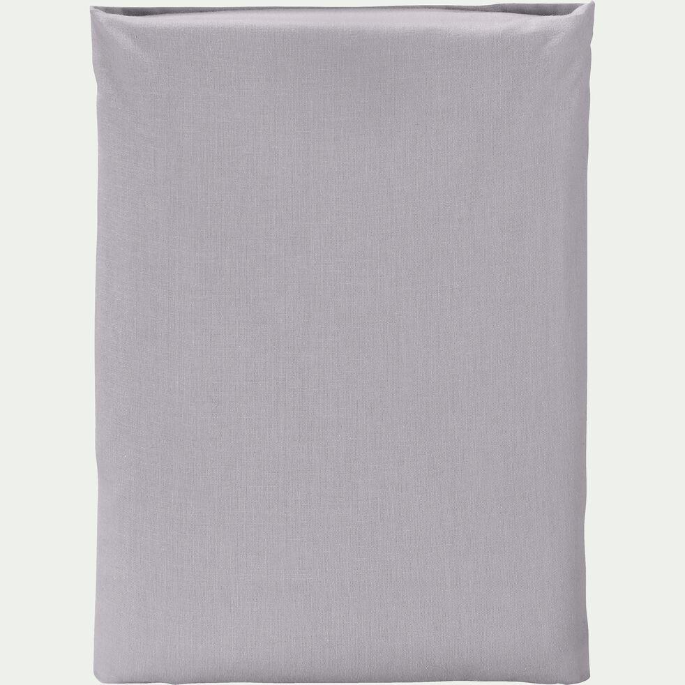 Drap plat en coton - gris restanque 270x300cm-CALANQUES