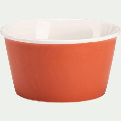 Coupelle en porcelaine rouge D12,5cm-CAFI