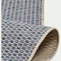 Tapis intérieur et extérieur motif nid d'abeille - bleu 120x170cm-Baudouin