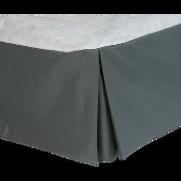 Cache-sommier gris anthracite 32cm - 90x200 cm-OPALINE