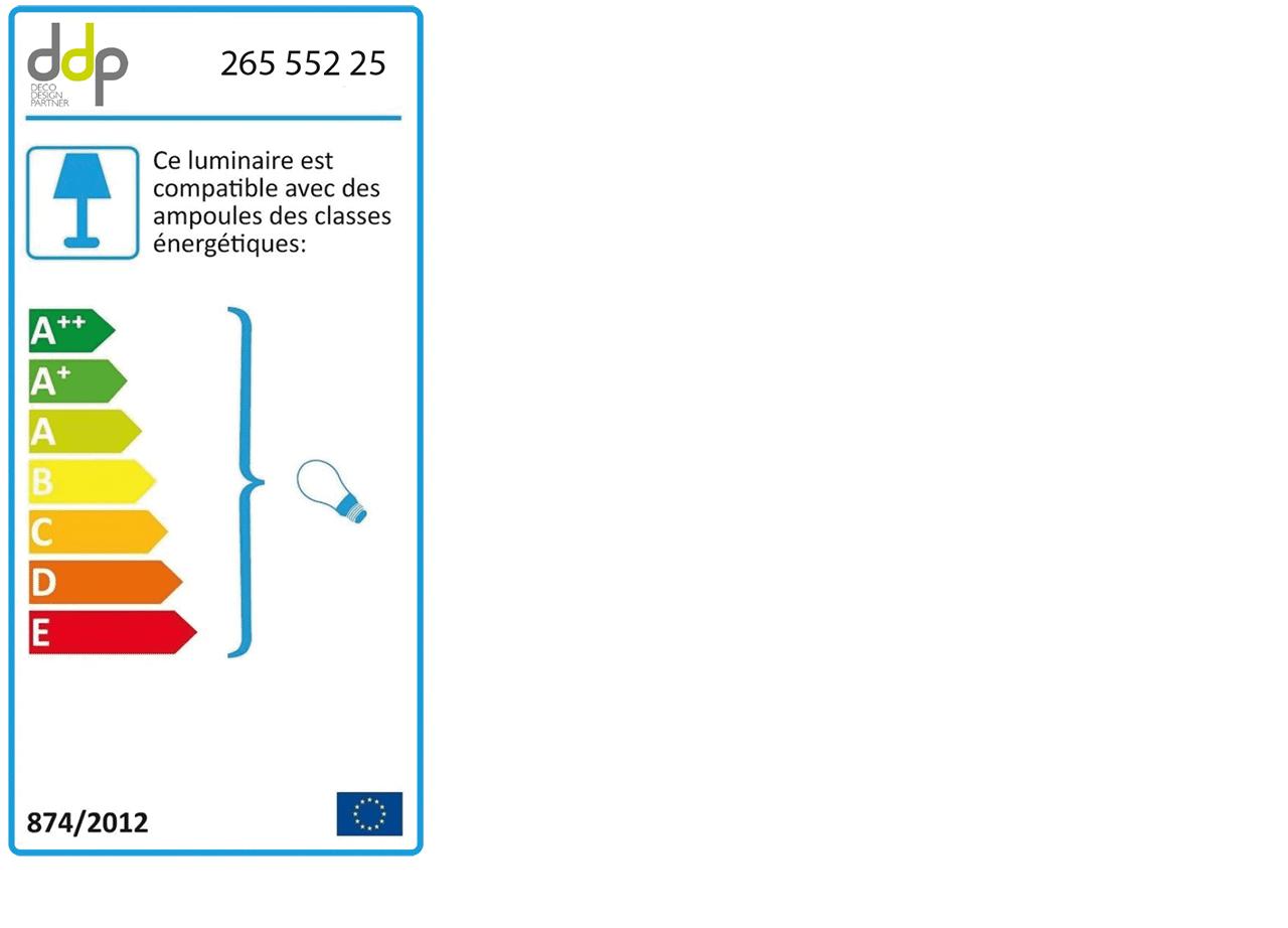 Suspension en béton blanc H8,5xD6,5cm-PRAO
