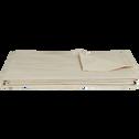 Plaid tissé en coton beige roucas 230x250cm-BELCODENE