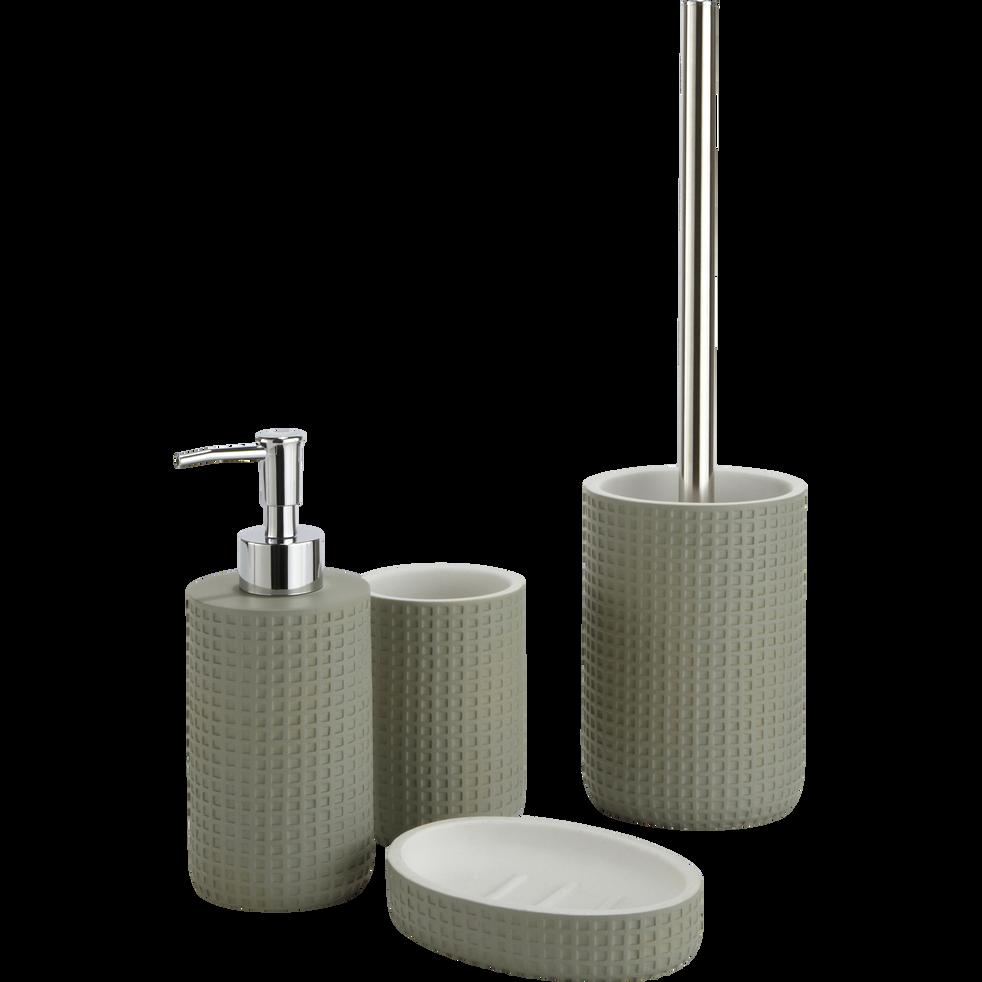 Balai et porte-balai WC vert olivier-LOUBET