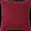Housse de couette et 2 taies d'oreillers en coton 240x220cm rouge-VICTOR