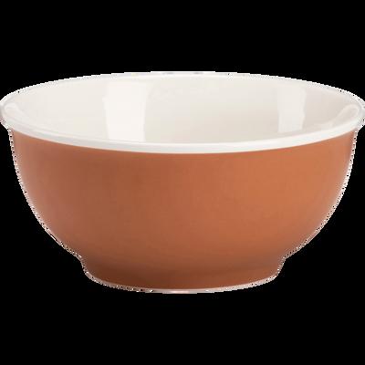 Bol en porcelaine orange D14,4cm-CAFI