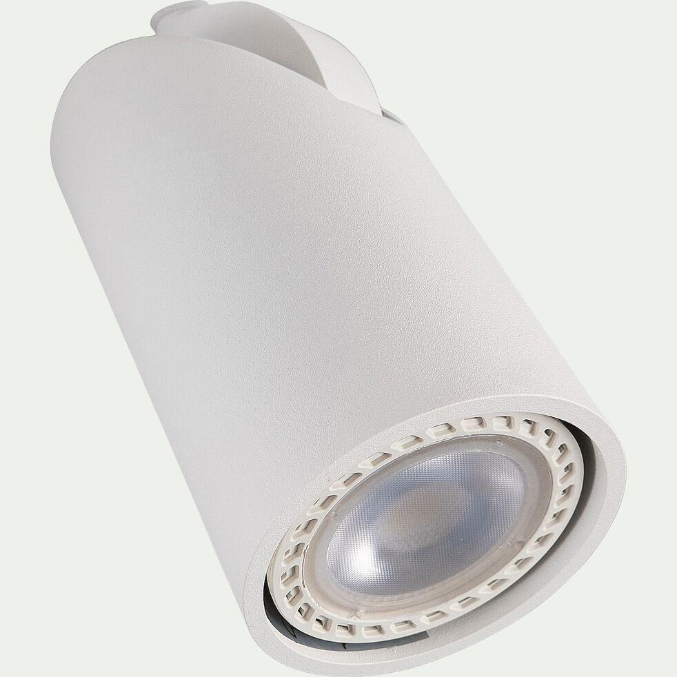 Spot inclinable en aluminium H12,50xD9cm - blanc-XYRUS