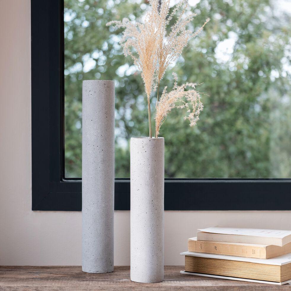 Vase effet béton H45cm-CALCIS