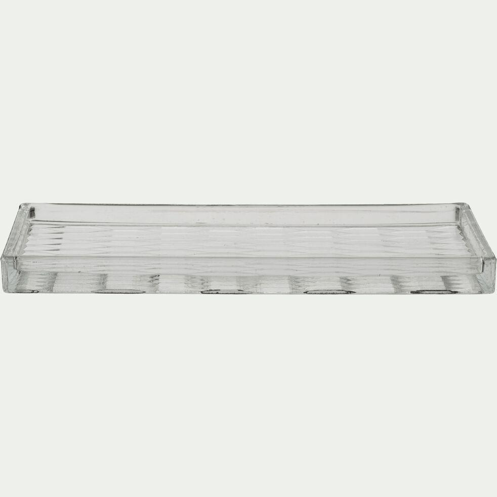 Plateau en verre - transparent 11x25cm-Aqual