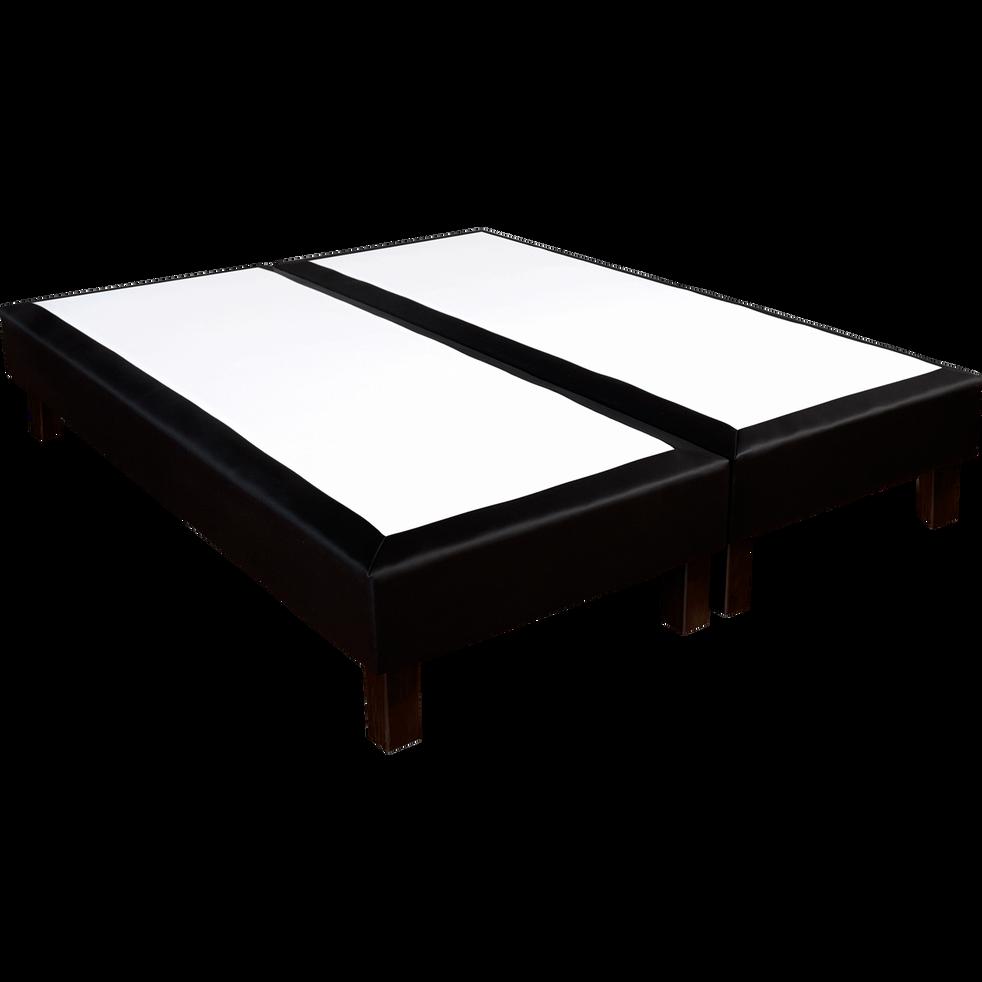 Sommier tapissier noir Duvivier 18 cm - 2x90x200 cm-CHIC