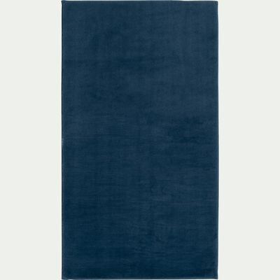 Tapis imitation fourrure - bleu figuerolles 60x110cm-ROBIN