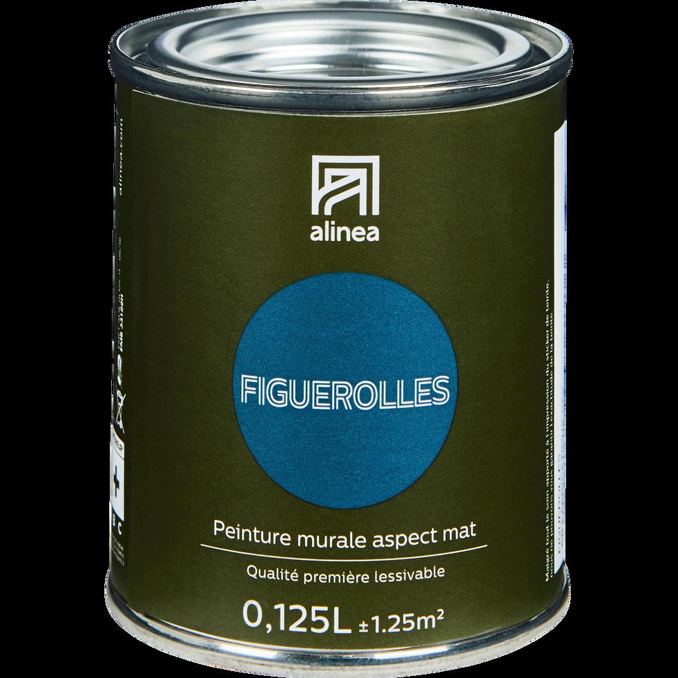Peinture acrylique mate multi-supports 0.125L bleu figuerolles-PEINTURE