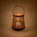 Lanterne en métal noir D21xH23cm-ERMITA