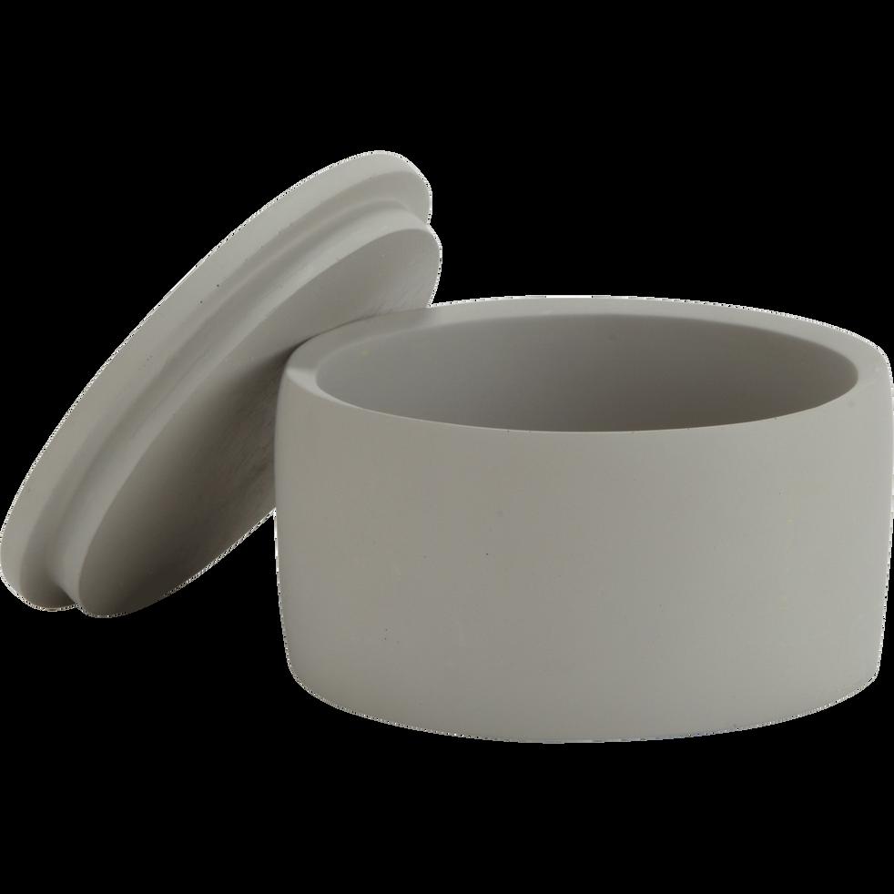 Boîte à coton en ciment gris restanque-BORY
