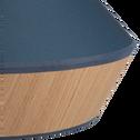 Suspension en tissu chêne et tissu bleu D40cm-DOMUS