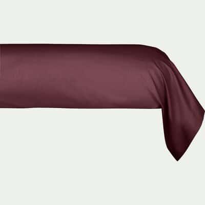 Taie de traversin en coton Rouge sumac 43x190cm-CALANQUES