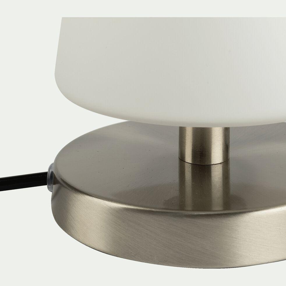 Lampe à poser tactile en métal H23cm - argenté-CARELETO