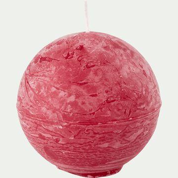 Bougie ronde - rouge arbouse D6cm-BEJAIA