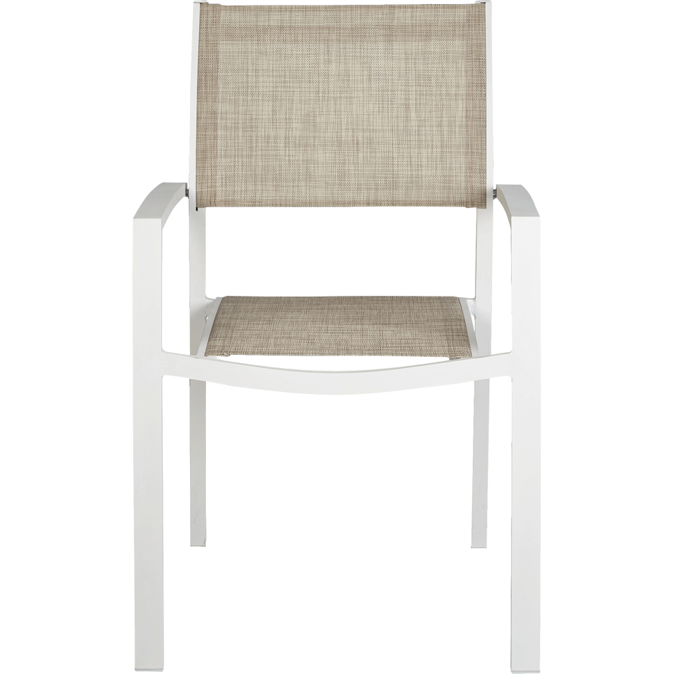 Fauteuil de jardin empilable gris clair en textil ne elsa chaises de jardin alinea - Alinea fauteuil jardin ...