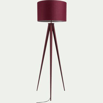 Lampadaire en métal rouge sumac H156cm-TRIX