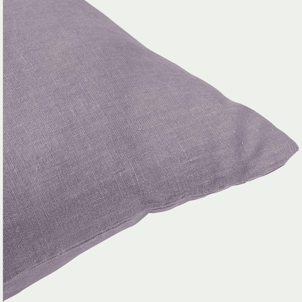 Coussin de sol en lin lavé - gris restanque 70x70cm-VENCE