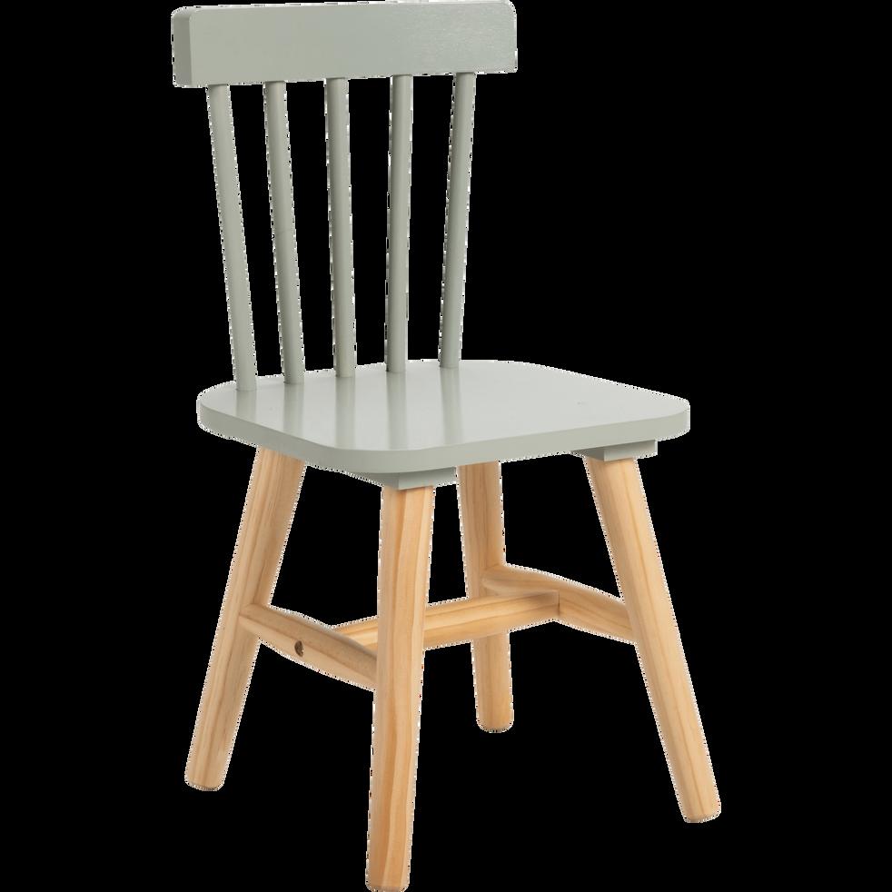 chaise enfant en h tre massif vert olivier helga catalogue storefront alin a alinea. Black Bedroom Furniture Sets. Home Design Ideas