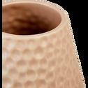 Vase en céramique alvéolée rose H31 cm-CHIUSI