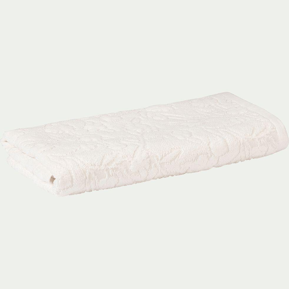 Serviette blanc nougat à motifs 50x100cm-DANGWA
