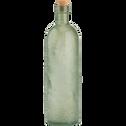 Bouteille en verre vert effet martelé 80cl-AZZA