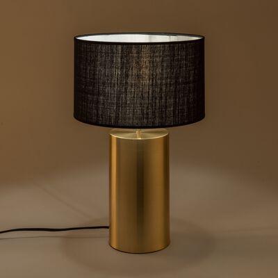 Lampe en acier doré - noir H36cm-AGATHA