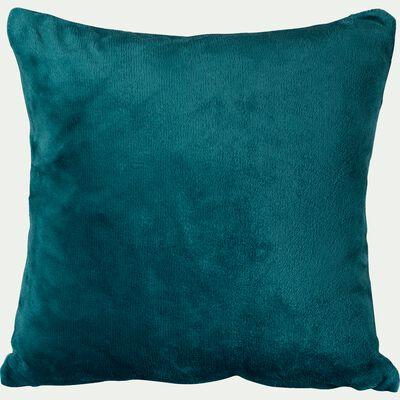 Housse de coussin effet doux bleu figuerolles 40x40cm-ROBIN