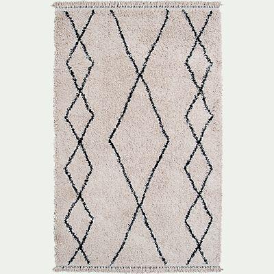 Tapis à motifs ethniques - noir et blanc 160x230cm-ILEM