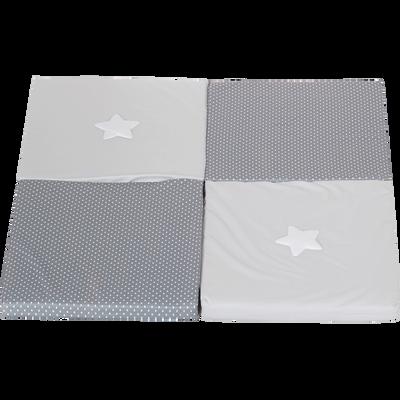 Matelas tapis enfant malin 3 fonctions : matelas, tapis de jeu et pouf-DOUX REVE