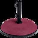 Pied de parasol en ciment 30kg rouge sumac-CASERTA