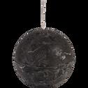 Bougie ronde gris calabrun D8cm-BEJAIA