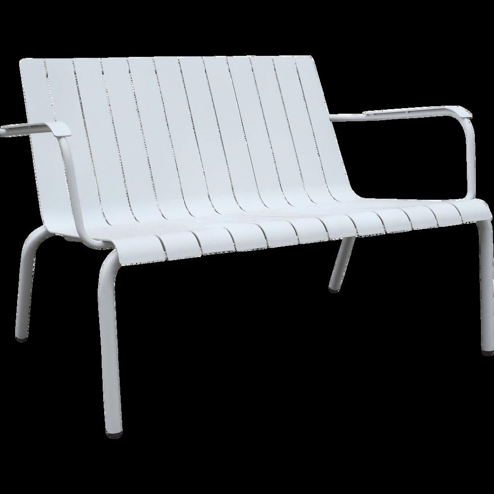banc de jardin blanc en aluminium 2 places paradou fauteuils et bancs de jardin alinea. Black Bedroom Furniture Sets. Home Design Ideas