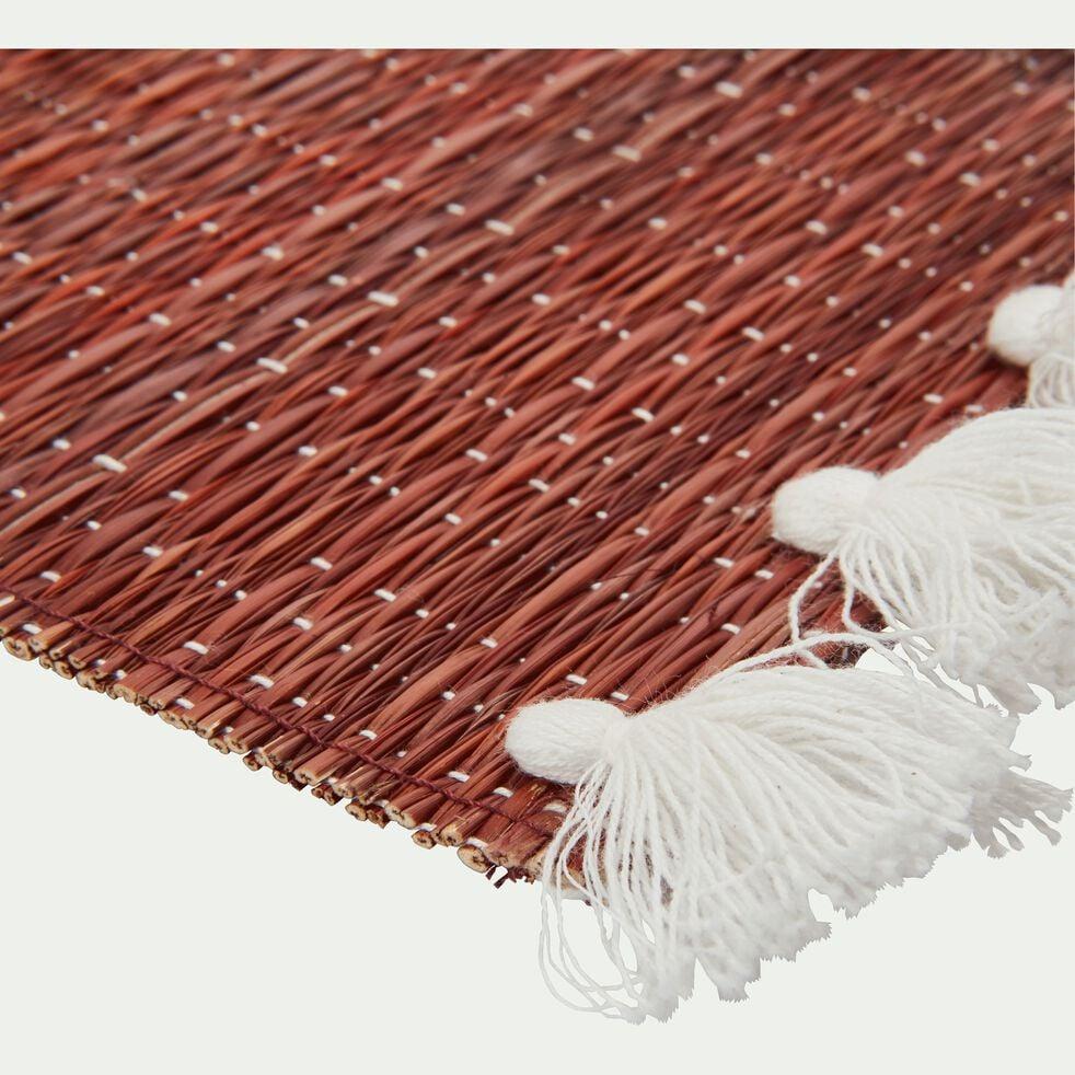 Set De Table En Paille Rouge 36x48cm Riad Set De Table Alinea