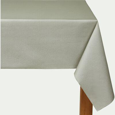 Nappe en papier vert olivier 160x240cm-SALERNE