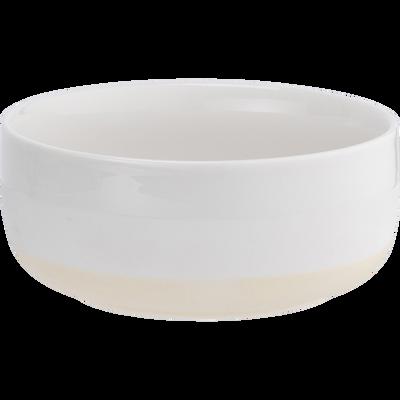 Assiette creuse en porcelaine blanc nougat D14,2cm-LANAU