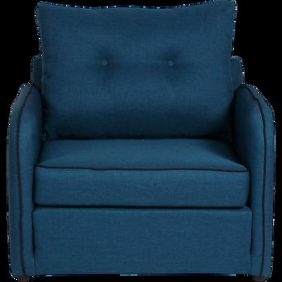 Chauffeuse déplimousse en tissu bleu-VINYL